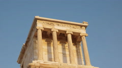 Zoom in shot of the temple of athena nike in athens, greece Stock Footage