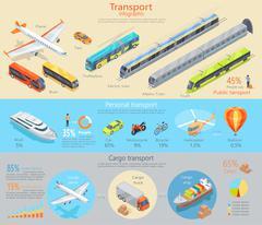 Transport Infographic. Transportation. Vector Piirros