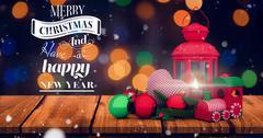 Merry Christmas message Stock Illustration