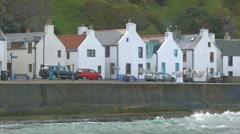 Coastal village of Pennan, Aberdeenshire Stock Footage