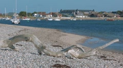 Findhorn bay, Moray in Scotland Stock Footage