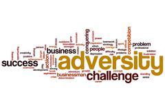 Adversity word cloud Stock Illustration