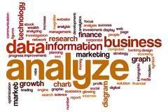 Analyze word cloud Stock Illustration