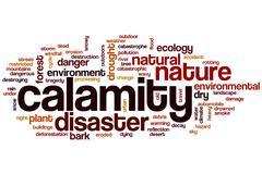 Calamity word cloud Stock Illustration