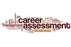 Career assessment word cloud Stock Illustration