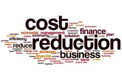 Cost reduction word cloud Stock Illustration