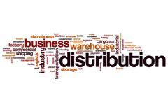 Distribution word cloud Stock Illustration