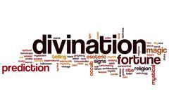 Divination word cloud Stock Illustration