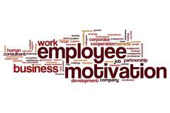 Employee motivation word cloud Stock Illustration