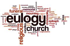 Eulogy word cloud Stock Illustration