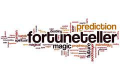 Fortuneteller word cloud Stock Illustration
