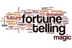 Fortune telling word cloud Stock Illustration