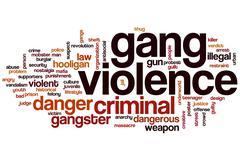 Gang violence word cloud Stock Illustration