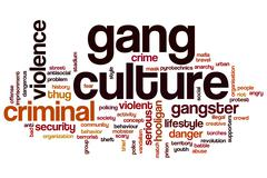 Gang culture word cloud Stock Illustration