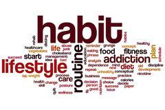 Habit word cloud Stock Illustration