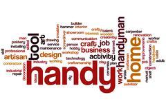 Handy word cloud Stock Illustration