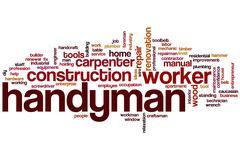 Handyman word cloud Stock Illustration