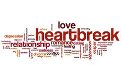 Heartbreak word cloud Stock Illustration