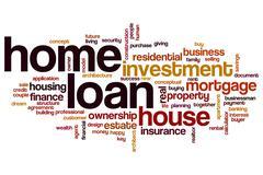 Home loan word cloud Stock Illustration