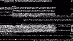 Grey Dirty Noise On Black Glitch Video Damage Background Stock Footage