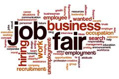 Job fair word cloud Stock Illustration