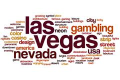 Las Vegas word cloud Stock Illustration