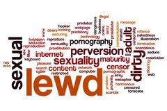 Lewd word cloud Stock Illustration