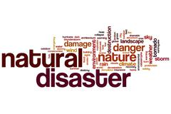Natural disaster word cloud Stock Illustration