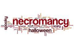 Necromancy word cloud Stock Illustration