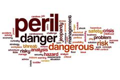 Peril word cloud Stock Illustration