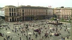 Milano, Italy, the Cathedral Square Stock Footage
