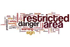 Restricted area word cloud Stock Illustration