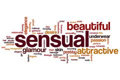 Sensual word cloud Stock Illustration