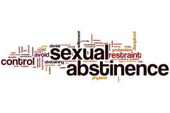Sexual abstinence word cloud Stock Illustration