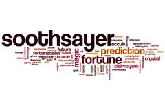 Soothsayer word cloud Stock Illustration
