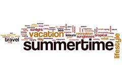 Summertime word cloud Stock Illustration