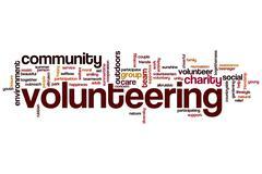 Volunteering word cloud Piirros