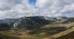 The mountains and the movement of clouds inside a national park Durmitor Stock Footage