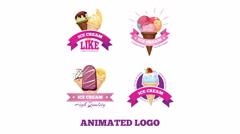 Ice cream logo animation Arkistovideo