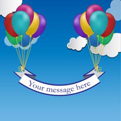 Color balloons background Stock Illustration