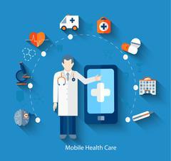 Concept of medical app. Stock Illustration