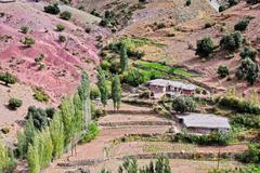 Landscape view of high Atlas Mountains, Morocco. Stock Photos