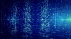Background line with light left perspective Blue LOOP Stock Footage