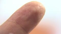 Fingerprints Lines Closeup Stock Footage