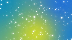 Underwater bubble lights flickering on a green blue yellow background Stock Footage