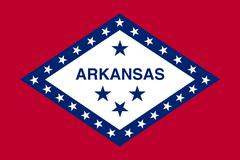 Flag of Arkansas in correct size and color, vector Stock Illustration