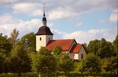 Tveta church Stock Photos