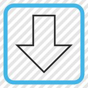 Arrow Down Vector Icon In a Frame Stock Illustration