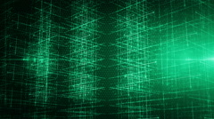 Background line with light left perspective Green LOOP Stock Footage