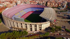 FC Barcelona stadium. General shot of the northern part of the stadium 2 Stock Footage